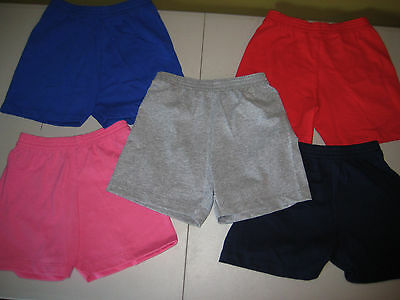 100% Cotton Jersey Toddler Shorts Bottoms Pants Pull-on Bike Run in Comfort!!!