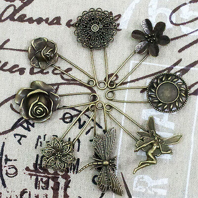 vintage safety pin brooch scarf shawl belt buckle 8 designs matching clothes