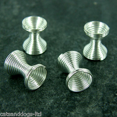 *50* BIG 9x11mm Findings Silver Plated Wire Coil Jewellery spacer beads C257