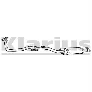 Front Exhaust Silencer Nissan Sunny 1.6 N13 NEW