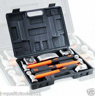 7 Pc Hand Car Auto Body Work Hammer And Dolly Fender Tool Dent Repair Set Kit
