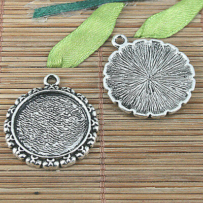 20pcs tibetan silver color 2sided round bee design charms EF2274