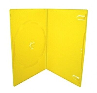 25 SLIM Solid Yellow Color Single DVD Cases 7MM