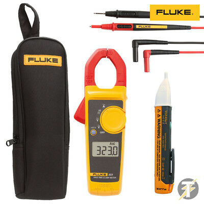 Fluke 323 600V Clamp Meter KIT6N with TL175 Leads, C150 Case and 1AC Voltstick
