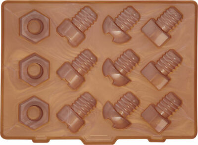 Silicone Nuts & Bolts Ice Cube Tray by Kitchencraft - KCT.BLIICTBOLTS