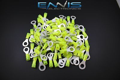 10-12 Gauge 25 Pk Nylon Ring 5/16 Connector Crimp Terminal Wire Car Home
