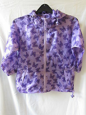 GIRLS RJM PURPLE BUTTERFLY MAC 100% polyester, Casual, Hooded, In a Bag