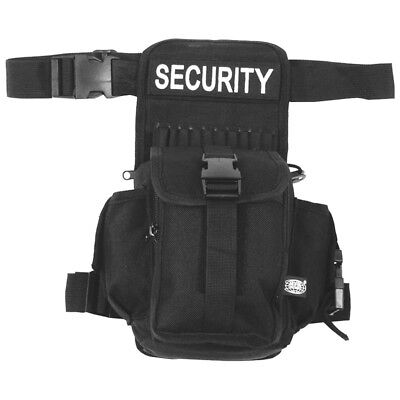 Security Travel Fanny Waist Pack Bum Bag 7 Pocket Army Tactical Police Black