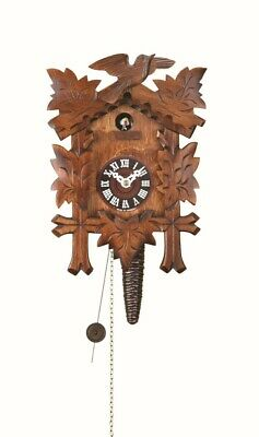 Quarter call cuckoo clock with 1-day movement Five leaves, bird TU 619 nu NEW