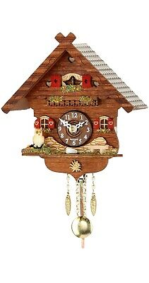 Kuckulino Black Forest Clock with quartz movement and cuckoo ch.. TU 2043 PQ NEW