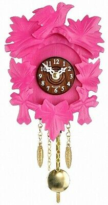Kuckulino Black Forest Clock with quartz movement and cuck.. TU 2015 PQ pink NEW
