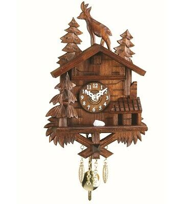 Kuckulino Black Forest Clock  with quartz movement and cuckoo c.. TU 2028 PQ NEW
