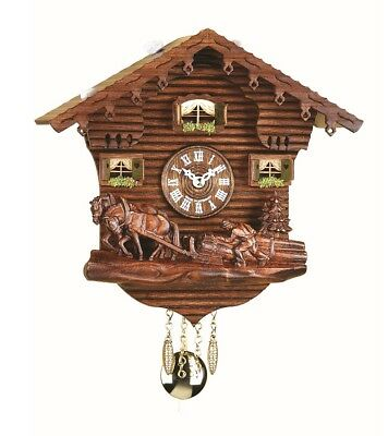 Kuckulino Black Forest Clock Swiss House with quartz movement a.. TU 2031 PQ NEW