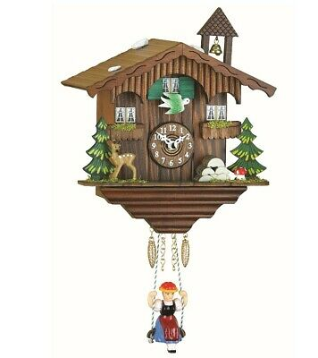Kuckulino Black Forest Clock Swiss House with quartz movement a.. TU 2001 SQ NEW
