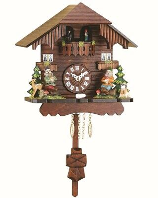 Black Forest Clock Black Forest House, turning dancers  TU 552 PQ NEW