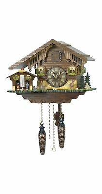 Quartz Cuckoo Clock Swiss house with weather house TU 415 Q NEW