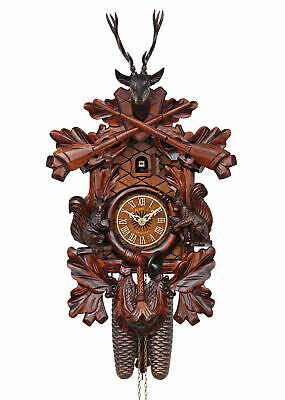 Adolf Herr Cuckoo Clock  -  Squirrels (Small) AH 386/1 8T NEW