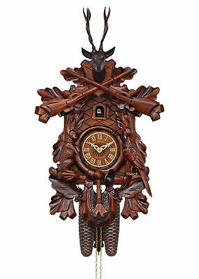 Adolf Herr Cuckoo Clock - The Hunter's Clock (Small) AH 375/1 8T NEW