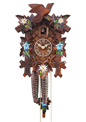 Adolf Herr Cuckoo Clock  - Alpine Flowers  AH 100/8 NEW