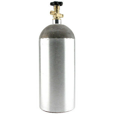 10 lb Aulminum CO2 Air Tank - Bar Keg Draft Beer Tap Kegerator - Gas Cylinder