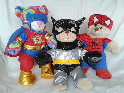 "15"" Superheros- Spiderman, Batman, Superman, Outfit Fits Build Your Own Bears"