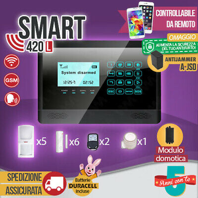 Antifurto Allarme Touch Screen Casa Combinatore Gsm Wireless Cellulare Smart420L