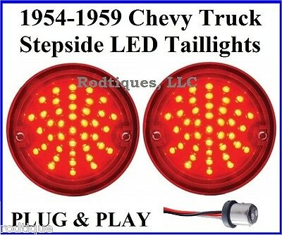 1954-1959 Chevy GMC Stepside Pickup Truck LED Taillight Inserts for Taillights