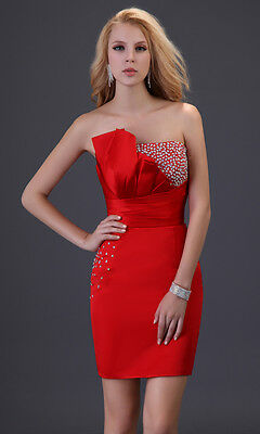 FREE SHIP Sequins Prom party Evening Dresses Bridesmaid Formal Short Ball Gown