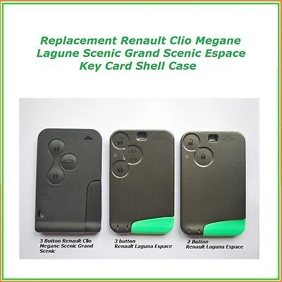 2 or 3 BUTTON RENAULT CLIO MEGANE LAGUNA  SCENIC GRAND CASE SHELL CARD FOB KEY