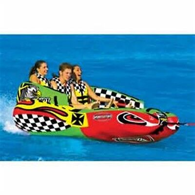SPORTSSTUFF CHARIOT WARBIRD 3 person Inflatable Towable Water Tube 53-1790