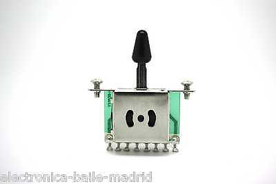 Black 5 Way Switch Pickup Selector For Fender Stratocaster Telecaster Strato