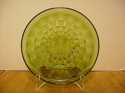 """Avocado Whitehall Cubist  8 7/8"""" Lunch Snack plate  USED"""