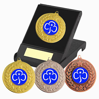 Girl Guides Medal in Presentation Box - F/Engraving - Guides Trophies and Medals