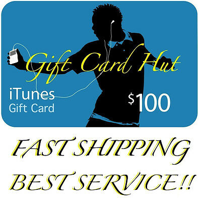 $100 US iTUNES CARD gift voucher certificate Apple USA USD iTune 100% Genuine