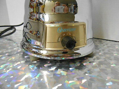 VINTAGE OSTERIZER OSTER   DELUXE TURQUIOSE / GOLD BEEHIVE BLENDER RARE!! 2 SPEED