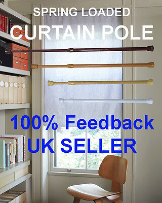 (1 Pair) Spring Loaded Extendable Curtain Rail Tension Pole Rod Cupboard Keeper