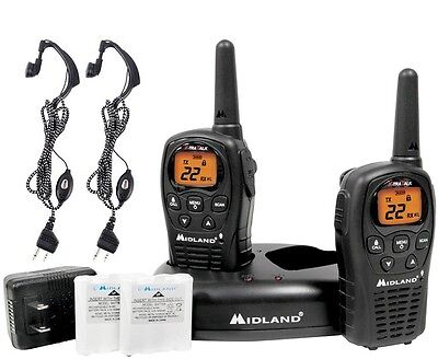 Talkie Walkie Midland Lxt500 36Kms Micro Casque +Chargeur+Transform. 220V