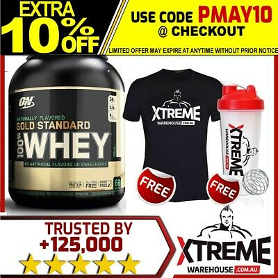 Optimum Nutrition 100% Natural Whey Chocolate Gold Standard Protein 5Lb Wpi Wpc