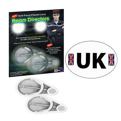 Headlamp Adaptors Deflectors Light Beam Convertors Fresnal Lens GB Sticker