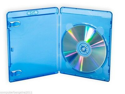 1 Blu Ray Cover Case 14mm Hold Single BluRay BDR Disc Clear plastic on front