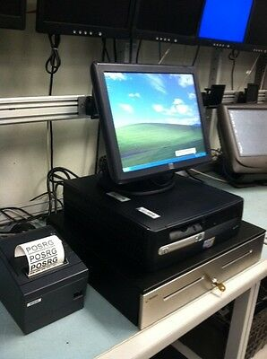 "All In One Pos System With 17"" Touch Monitor,scanner,receipt Printer,cash Drawer"