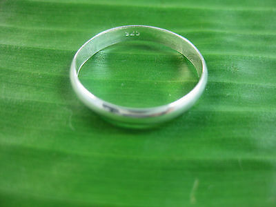 "925 sterling silver ""3mm CURVED"" Wedding Band Ring Big size 3.25 to 14.75 UNISEX"