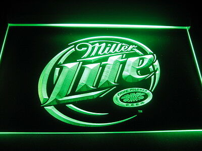 W0811 B Miller Lite Beer Bar LED Light Sign