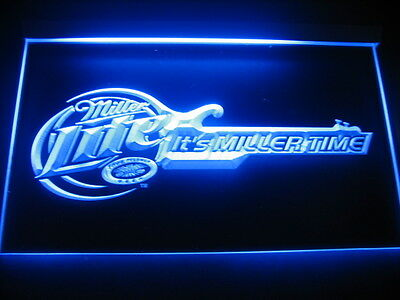 W0829 B Miller Lite Guitar Bar Beer LED Light Sign