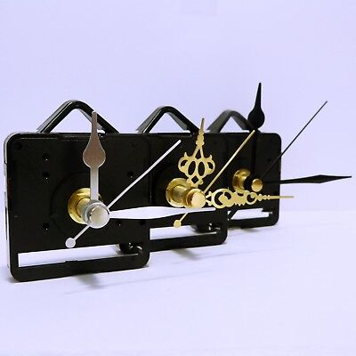 5x Quartz clock movement sweep mechanism (non ticking) with hands and free post