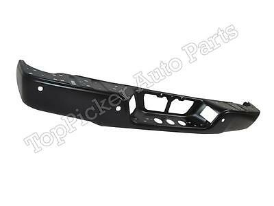 For 2007-2013 Tundra Rear Step Bumper Face Bar Black With Sensor Hole