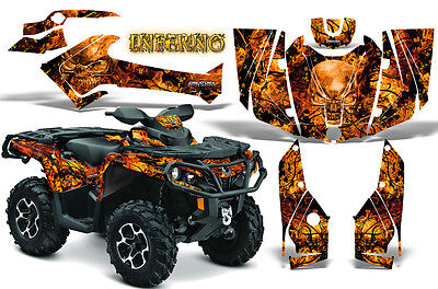 Can-Am Outlander 500 650 800 1000 2013-2018 Graphics Kit Creatorx Inferno O