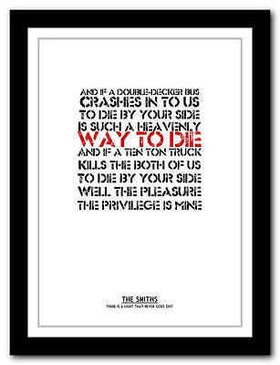THE SMITHS -There Is A Light That Never Goes Out - typography print - 4 sizes