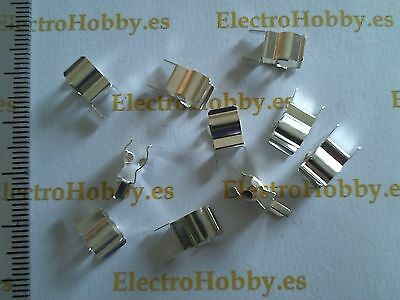 10x Clip Portafusible 5x20 circuito impreso - Fuse holder - Porta fusible