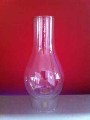 "Glass Oil Lamp Chimney ""J"" - 2 Inch Base Opening, 16.5cm tall."
